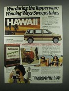 1984 Tupperware Products Ad - Winning Way Sweepstakes