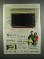 1984 Litton Model 1752 Quick 'n Easy Microwave Ad