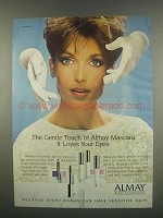 1984 Almay Mascara Ad - The Gentle Touch