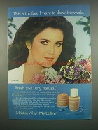 1984 Maybelline Moisture Whip Makeup Ad - Lynda Carter - The Face