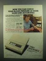 1984 Timex Healthcheck Home Blood Pressure Monitor Ad