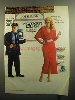 1984 Secret Roll-On Deodorant Ad - That's the Ticket
