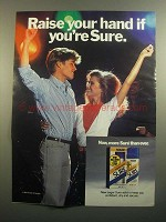 1984 Sure Deodorant Ad - Raise Your Hand if You're Sure