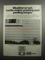 1984 Lucite House & Trim Paint Ad - Weather or Not
