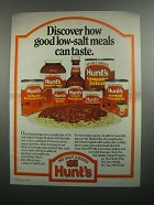 1984 Hunt's No Salt Added Tomato Products Ad - Discover