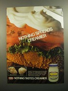 1984 Kraft Mayonnaise Ad - Nothing Spreads Creamier