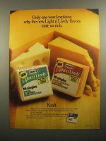 1984 Kraft Light 'n Lively Singles Ad - Only One Word