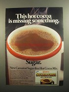 1984 Carnation Sugar-Free Hot Cocoa Mix Ad - Missing
