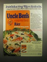 1984 Uncle Ben's Converted Rice Ad - Rice Salad Nicoise