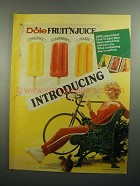 1984 Dole Fruit 'N Juice Bars Ad