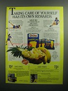 1984 Dole Pineapple Juice Ad - Joan Benoit