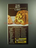 1984 Nestle Mini-Morsels Ad - Toll House Bundt Cake
