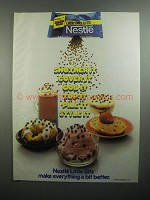 1984 Nestle Little Bits Chocolate Chips Ad - Smother It