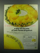 1984 State of Florida Department of Citrus Ad - A Slice