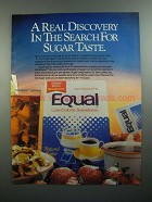 1984 Equal Low-Calorie Sweetener Ad - Real Discovery