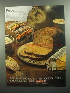1984 Arnold Bran'nola Bread Ad - The More You Put In