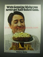 1984 Idaho Potato Commission Ad - Half-Baked