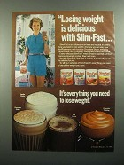 1984 Slim-Fast Weight Loss Ad - Losing is Delicious