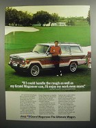 1984 Jeep Grand Wagoneer Ad - Andy Bean
