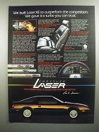 1984 Chrysler Laser XE Ad - Turbo You Can Trust