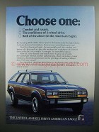 1984 American Eagle Wagon Ad - Choose One