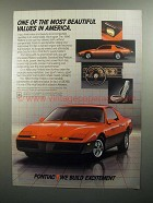 1984 Pontiac Firebird Ad - One of Most Beautiful Values