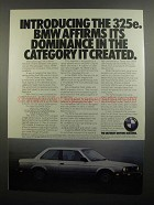 1984 BMW 325e Ad - Dominance in the Category