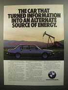 1984 BMW 528e Ad - Alternate Source of Energy