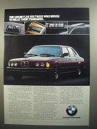 1984 BMW 733i Ad - Refuse to Relax Their Standards
