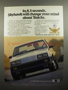 1984 Buick Skyhawk T Type Ad - In 8.5 Seconds