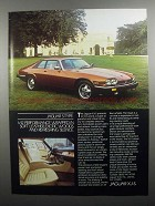 1984 Jaguar XJ-S Ad - Performance Wrapped in Leather