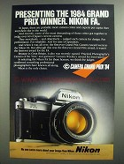1984 Nikon FA Camera Ad - Grand Prix Winner