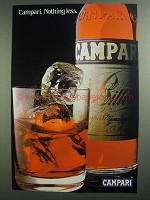 1984 Campari Bitters Ad - Nothing Less