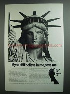 1984 The Statue of Liberty-Ellis Island Foundation Ad