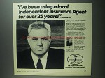 1984 Your Independent Insurance Agent Ad - Raymond Burr