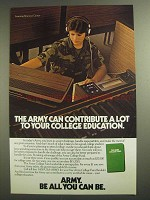 1984 U.S. Army Ad - Contribute To College Education