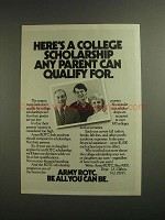 1984 Army ROTC Ad - Any Parent Can Qualify For