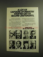 1984 Army ROTC Ad - Lot of Captains of Industry