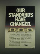 1984 GTE Ultraline Phones Ad - Standards Have Changed