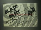 1984 Bantam Books Time Machine Ad - Blast Into Past