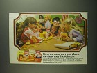 1984 Frito Lay Cheese Chooser's Pack Ad - Love Lunch