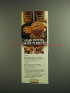 1984 Hormel Mary Kitchen Hash Ad - Patties Made Perfect