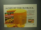 1984 Lawry's Nacho Cheese Sauce Mix Ad - Chip Off Block