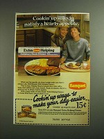 1984 Banquet Extra Helping Salisbury Steak Dinner Ad