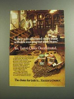 1984 Taster's Choice Coffee Ad - Delcious Store Beans