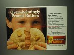 1984 Nestle Peanut Butter Morsels Ad - Overwhelmingly