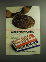 1984 Nestle Milk Chocolate with Almonds Candy Bar Ad