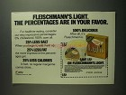 1984 Fleischmann's Light Corn Oil Spread Ad