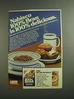 1984 Nabisco 100% Bran Ad - Is 100% Delicious