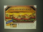 1984 Kraft Deluxe American Cheese & Hormel Chicken Ad